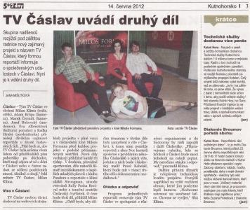 Článek Kutnohorsko, červen 2012